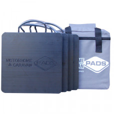 Flat Caravan Stabiliser Pads (Pack Of 4) - 220mm x 220mm x 18mm - 0.94kg