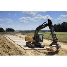 Hardwood Timber Heavy Duty Mat - 3m x 1m x 70mm - 230kg